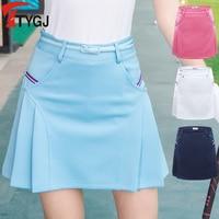 Send Belt Spring Summer Pleated Skirt with Safety Short XS XL Sportswear Korean Outdoor Golf /Tennis Skirt Fold Skorts Clothes