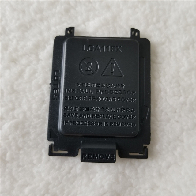 LGA1155/100/1156/1150/I3/I5/I7 용 1151 개/몫 마더 보드 CPU 소켓 보호 쉘 블랙 커버 유니버설