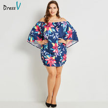 Dressv blue cocktail dress plus size sleeveless off the shoulder graduation party dress elegant fashion cocktail dresses(China)