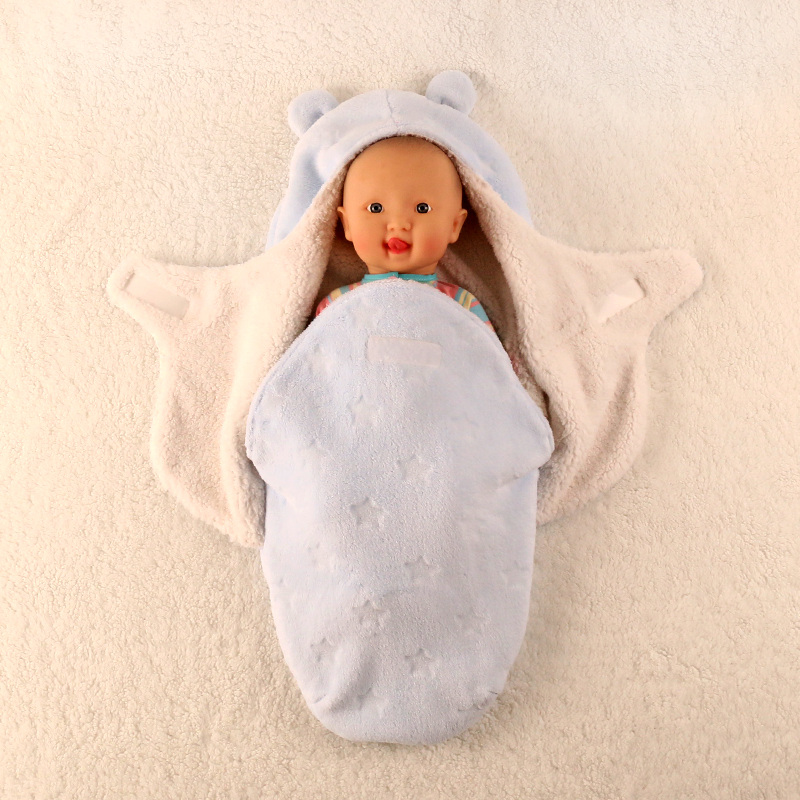 Baby Blankets Newborn Super Soft Autumn Winter Upset Babys Package Swaddling Baby Products Swaddle Wrap Nursling