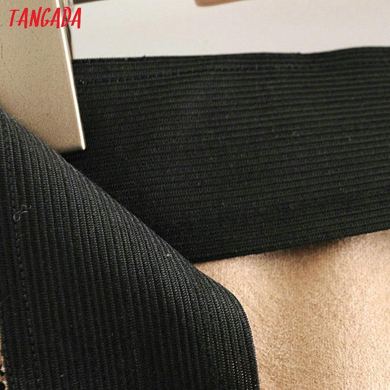 Tangada frauen wildleder schlange druck bleistift hosen tier muster elastische taille dünne hosen weibliche casual hosen pantalone SY69