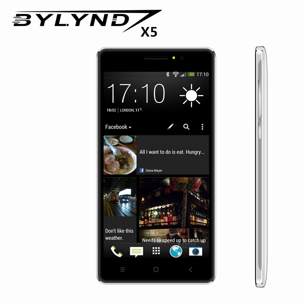 cheap celular BYLYND X5 Android 6.0 Original Smartphones Explosion-proof case 1GRAM mobile phone 3G WCDMA 5.0MP unlocked HD 5.0""