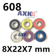 8X22X7mm Chrome Steel Miniature Ball Bearings 608-2RS ABEC-7 ABEC-9  608 for Inline skates bearing Skateboard Scooters 608ZZ