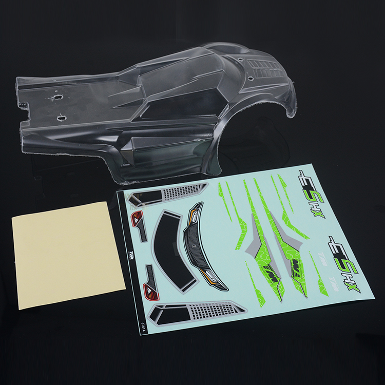 Free shipping TM Team E5 1/ 10 big foot car accessories new car shell / car shell sticker transparent color 510190C for RC Car free shipping k5 metal shell