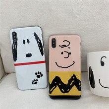 Cute Cartoon Charlie Dog Phone Case For iphone X XR XS MAX G