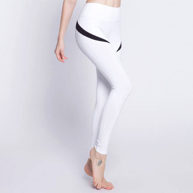 5bd828b97f935 Women Leggings Yoga Pants Fitness Sport High Waist Sexy Patchwork Running  Pants Breathable Tights Trousers Push Hips