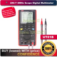 Uni-t Ut81b Handheld LCD Scopemeter Oscilloscope Digital Multimeter hantek dso5102p digital oscilloscope portable 100mhz 2channels 1gsa s record length 40k usb lcd handheld osciloscopio 7 inch