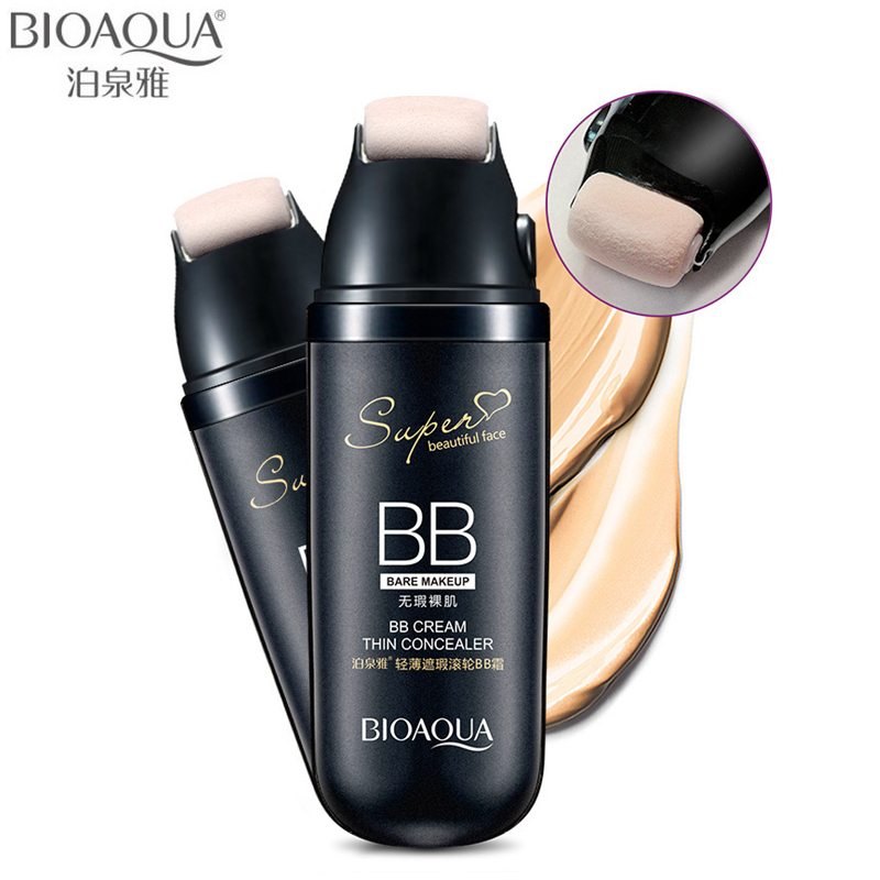 BIOAQUA Brand Scrolling Liquid Cushion BB Cream Base Makeup Concealer Flawless Moisturizer Cosmetics Face Foundation Make Up