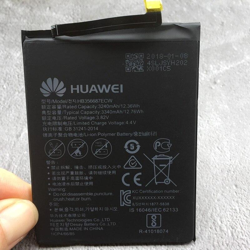 HB356687ECW Pour Huawei Nova 2 Plus BAC-AL00 Huawei Honor 7X Nova2 Plus 3340 mah Smartphone Batterie
