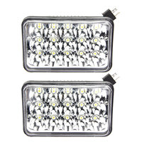 free 2x45W 4x6 led headlight work lamp H4651/H4652/H4656/H4666/H654 led kit for Ford Kenworth Foden Gmc scania truck tractors