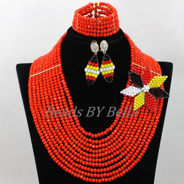 Exclusive Braid Flower African Wedding Women Jewelry Set Orange Crystal Beads Nigerian Bridal Jewelry Sets Free Shipping ABK073Exclusive Braid Flower African Wedding Women Jewelry Set Orange Crystal Beads Nigerian Bridal Jewelry Sets Free Shipping ABK073