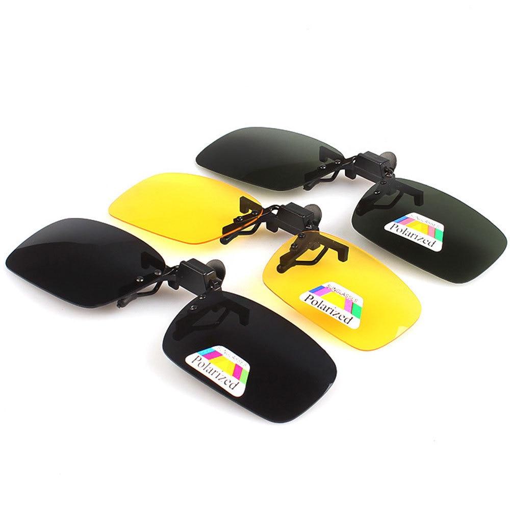 Поляризационные Защита от солнца-Очки зажим для Day & Night Anti UV вождения Рыбалка Защита от солнца Очки Зажимы для ближнего зрячих людей Для мужч...