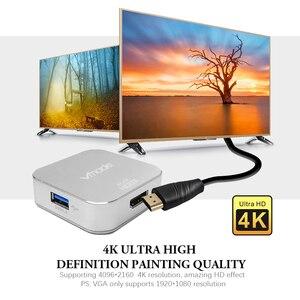 Image 4 - TypeC 4 in1 Thunderbolt 3 USB סוג C רכזת כדי HDMI 4K מתאם USB C Hub Dock עם סוג C כוח משלוח עבור Samsung S8 MacBook Pro