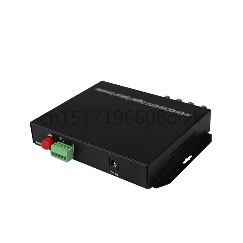 Image 5 - HD video AHD CVI TVI Fiber optical converter, 4 CH 720P 960P video fiber optic transmitter with reverse RS485 data-in Fiber Optic Equipments from Cellphones & Telecommunications