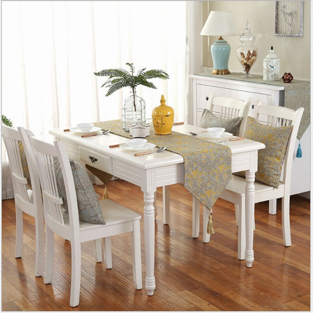 Elegant Dining Table Runners Country Style Tablecloth Long Coffee Towel