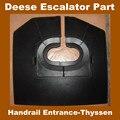 Escalator Handrail Entrance Cover For Thyssen Escalator Step Free shipping