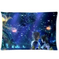 LUQI Zippered Pillow Protector Pillowcase Queen Size 20x30 Inches Final Fantasy Galaxy Night Pillow Cover