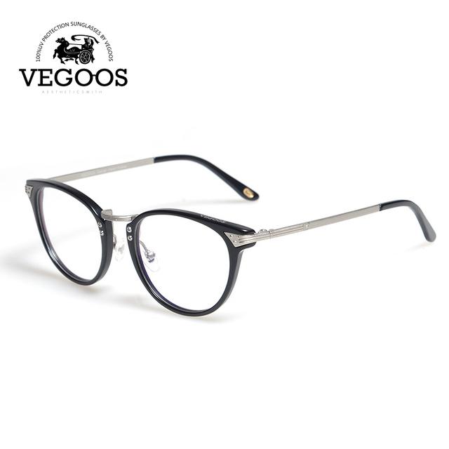 VEGOOS Marca de Diseño Redondo Retro Acetato Gafas Marco de anteojos de la miopía gafas Oculos marca de Luz diseño cara oval #5046