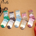 The blue sky and white clouds women socks Personalized printing High quality ladies socks 5 pairs/lot