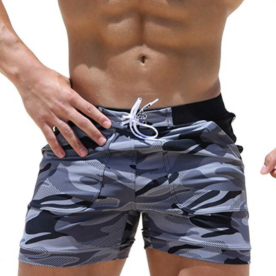 Men's Beach Pants Camo Quick-drying Breathable Swimwear quick board mens surf board shorts swimsuit for beach men's shorts surf