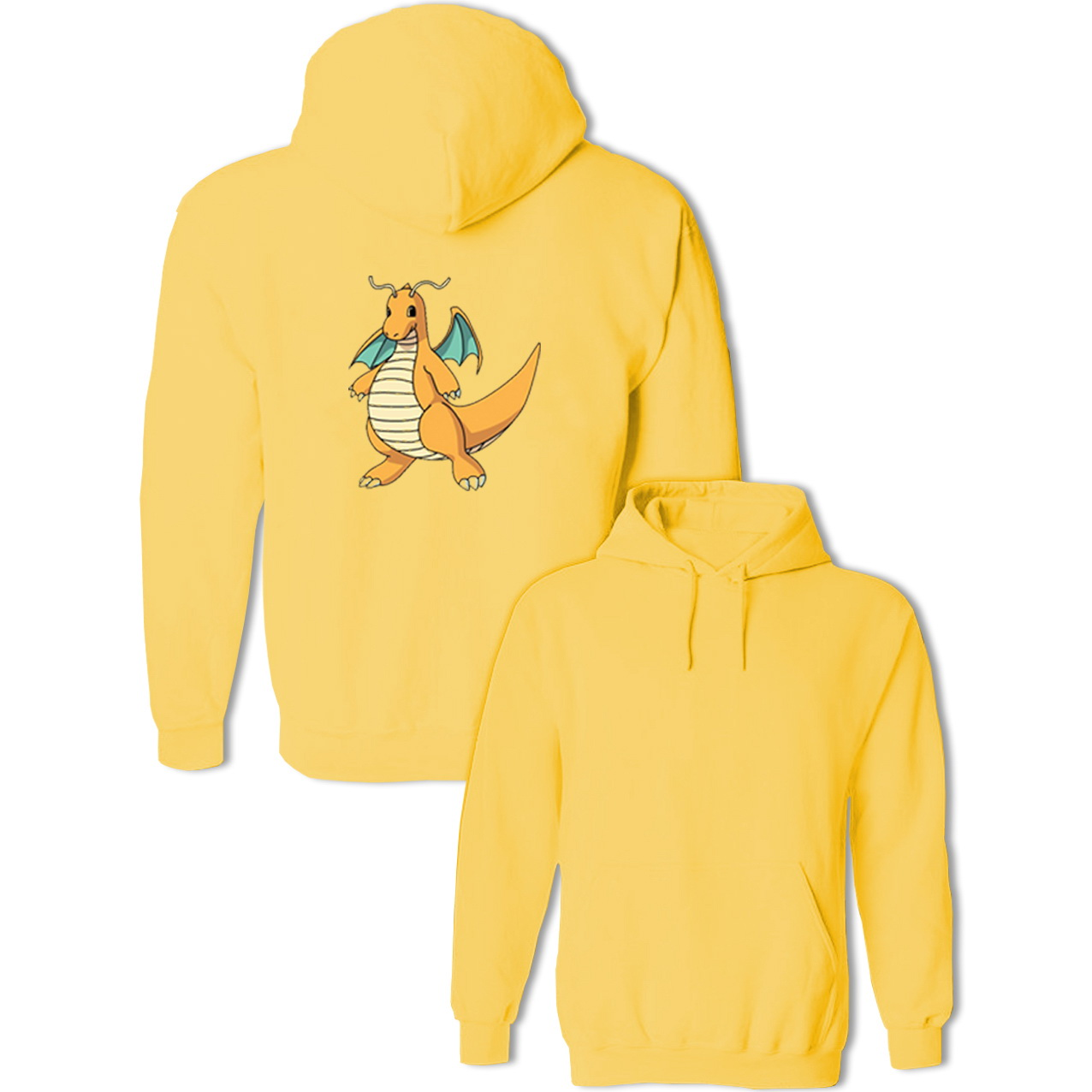 Anime Pokemon Sprites Dragonite Hoodies Cosplay Family Spring Autumn Winter Unisex Men's Women's Sweatshirts Pullovers Jackets
