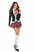Adult Naughty School Girl Costume Free Shipping Hot Popular Sexy Fancy Costumes 3S1092 schoolgirl party costumes
