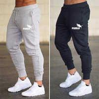 Marka drukuj Pumba mężczyźni biegacze Casual męskie spodnie dresowe biegaczy spodnie Pantalon Homme odzież sportowa spodnie kulturystyczne