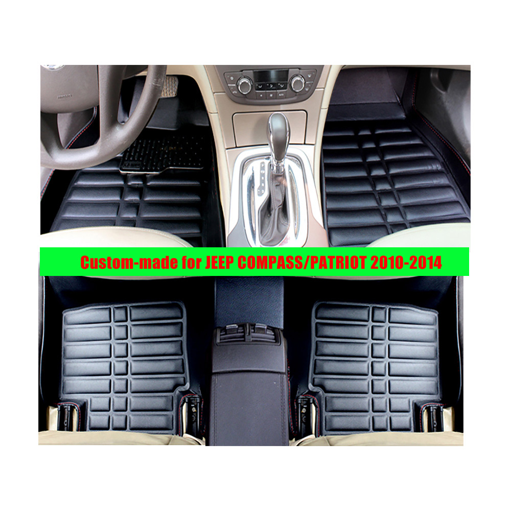 Floor mats jeep compass - For Jeep Compass Patriot 2010 2014 Left Hand Drive Fly5d Car Floor Mats Front