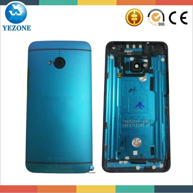 Первородный металл передняя панель панель назад крышку корпуса аккумулятор двери для HTC One м7 801E задняя корпус синий бесплатная отслеживая бесплатная доставка
