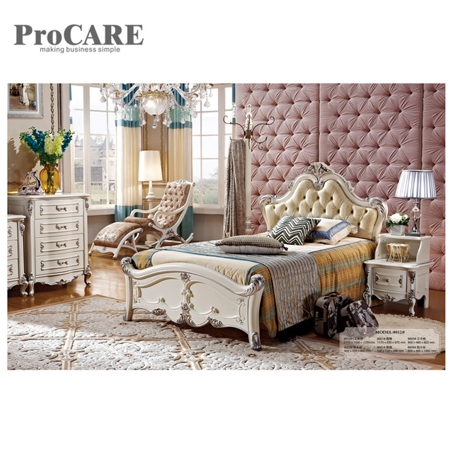 Luxury Indian Wood Double Bed Designs And Bed Side Drawer From