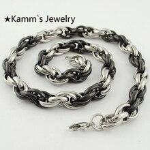 Plateado Plata al por mayor de Los Hombres Cadena Cuerda Collar 54 CM Cadena accesorios Body KN069