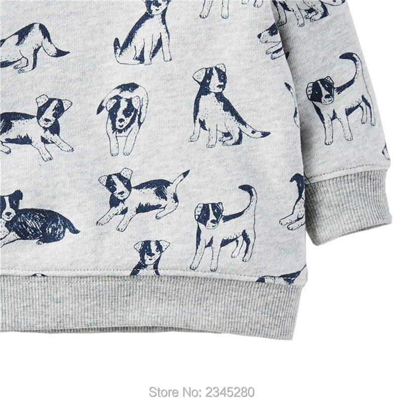 T Shirts For Baby Boys T-shirts Clothes Sweater Child Tops Long Sleeve Dog Print Children Tees Clothes Tops Clothing Bobo Choses06