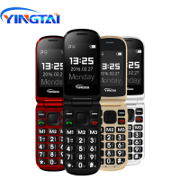 cell phone screen YINGTAI T09 Best feature phone GSM Big push-button flip phone Dual Screen clamshell 2.4 inch Elder telephone cell phones FM MP3 (2)