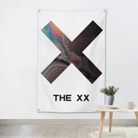 THE X X Large Rock Flag Banners Four Hole Wall Hanging Painting Bedroom Studio Party Music Festival Background Decoration