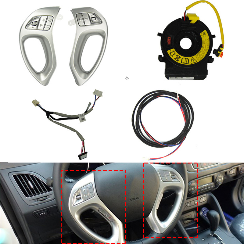 Car Interior Multi-Function Remote Control Buttons Steering Wheel Button Audio Channel Cruise Control For Hyundai Tucson IX35