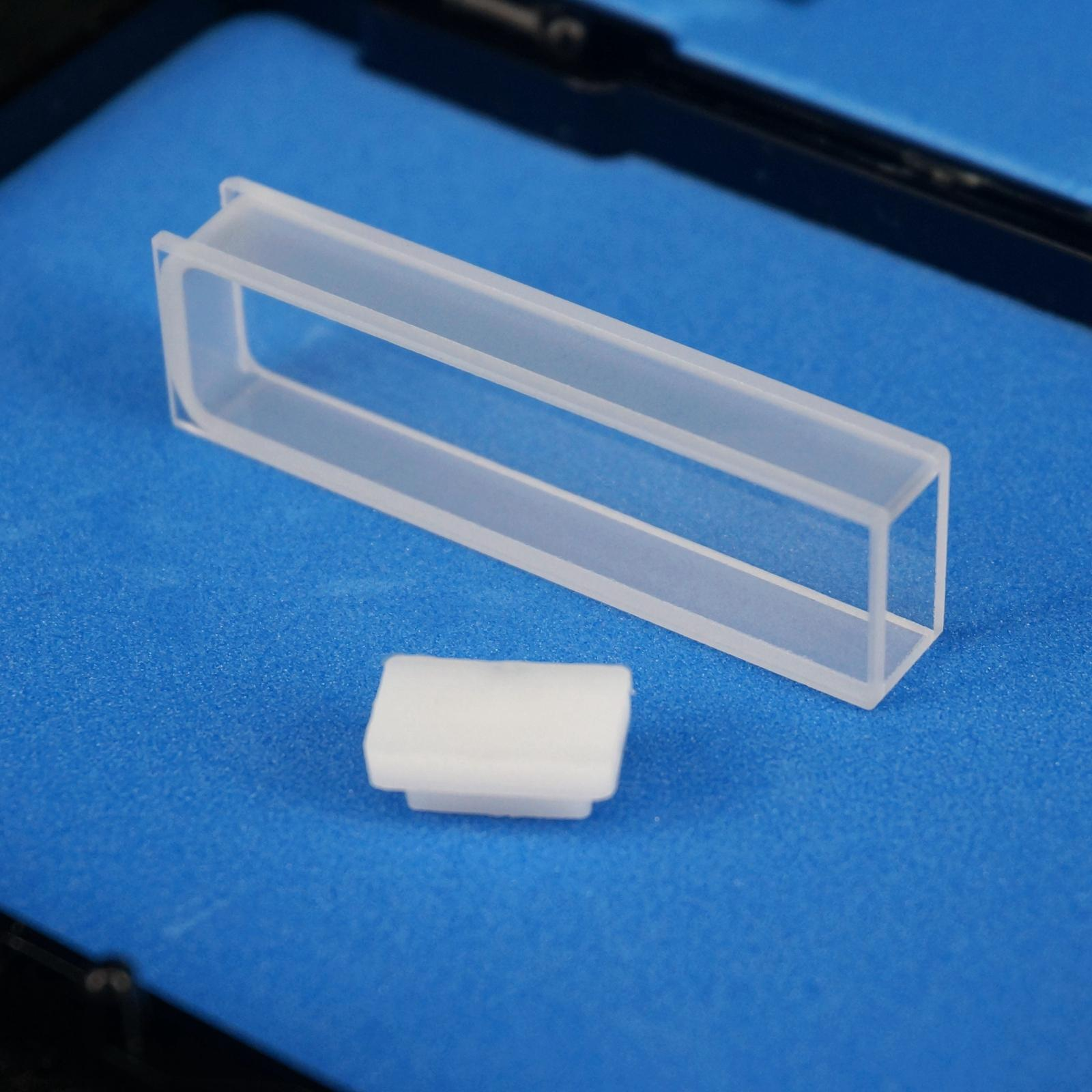 5mm Path Length JGS1 Quartz Cuvette Cell With Telfon Lid For Uv Spectrophotometers