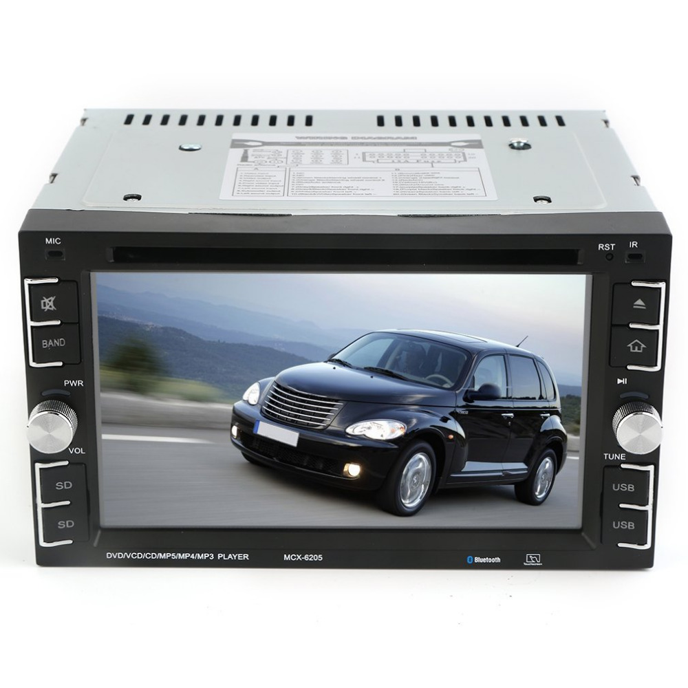 6205 double 2din 6 2 inch car stereo dvd cd mp3 player in dash bluetooth for ipod auto hd tv radio video audio camera parking
