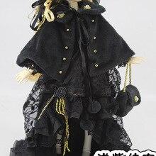 1/4 1/3 масштаб BJD пальто+ платье+ сумка+ шляпа набор для BJD/SD Одежда Аксессуары куклы, не включены кукла, обувь, парик и аксессуары 1552