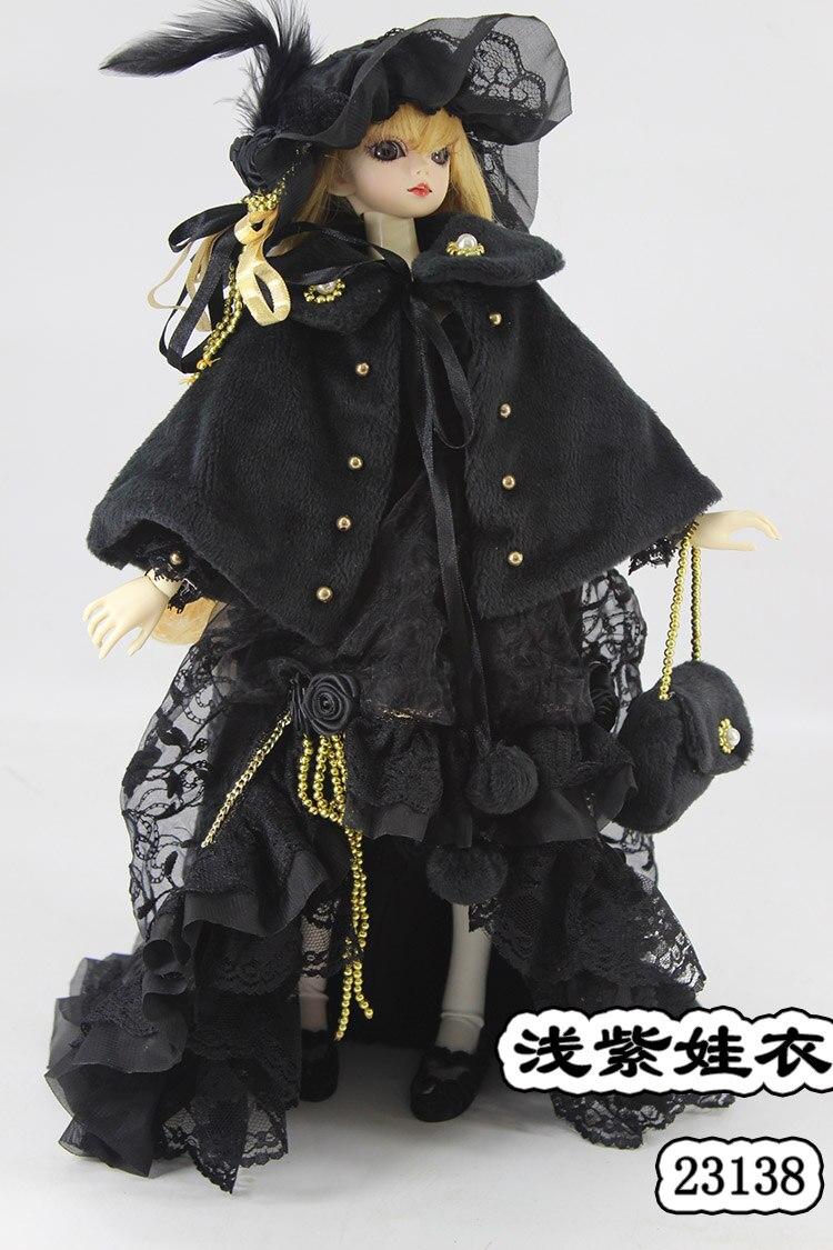 1/4 1/3 skala BJD płaszcz + sukienka + torba + zestaw kapeluszy dla BJD/SD odzież akcesoria dla lalek, nie zawiera lalki, buty, peruki, i akcesoria 1552 w Akcesoria dla lalek od Zabawki i hobby na  Grupa 1