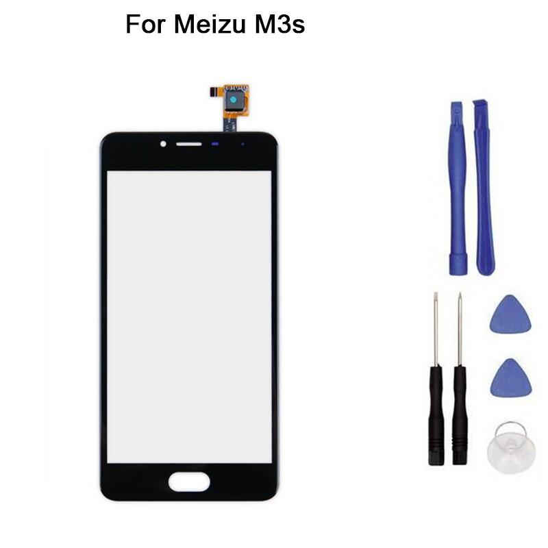 Nueva pantalla táctil para meizu M3s Y685M Y685Q 685C meilan pantalla táctil digitalizador panel frontal de cristal reemplazo + herramienta
