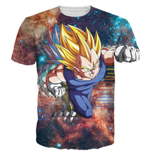 New Fashion Women Men Hipster 3D t shirt Galaxy tshirts Anime Dragon Ball Z Vegeta t shirts DBZ Tees Summer Casual tee NJ104