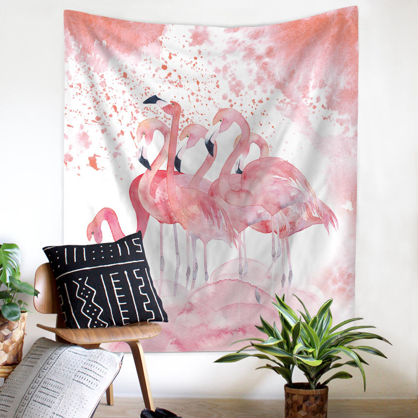 Bohemia Tropical Leaf Flamingo Pattern Wall Art Hanging Tapestry Decorative Sofa Chair Cover Fashion Beach Towel Table Cloth