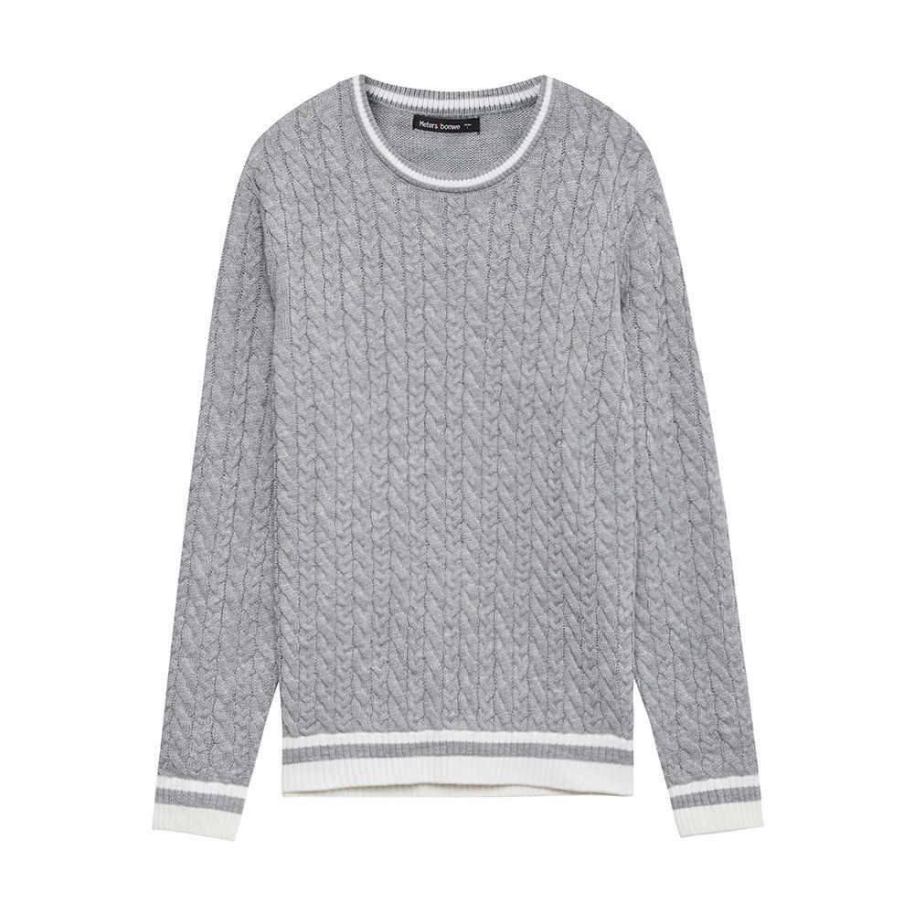 METERSBONWE nuevo Otoño Invierno hombres suéteres suéter tejido coreano Twist Pullover
