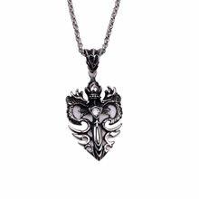 Ретро двойной дракон кулон полые ожерелья панк крест крылья