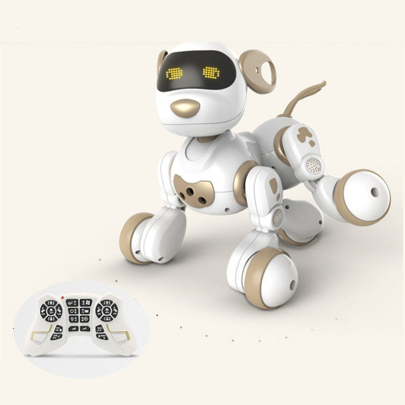 Jouet d'apprentissage éducatif pour enfants jouet télécommandé rc robot pour animaux de compagnie chien rc jouet avec lumière LED parlant parler avec enfant chantant jouet