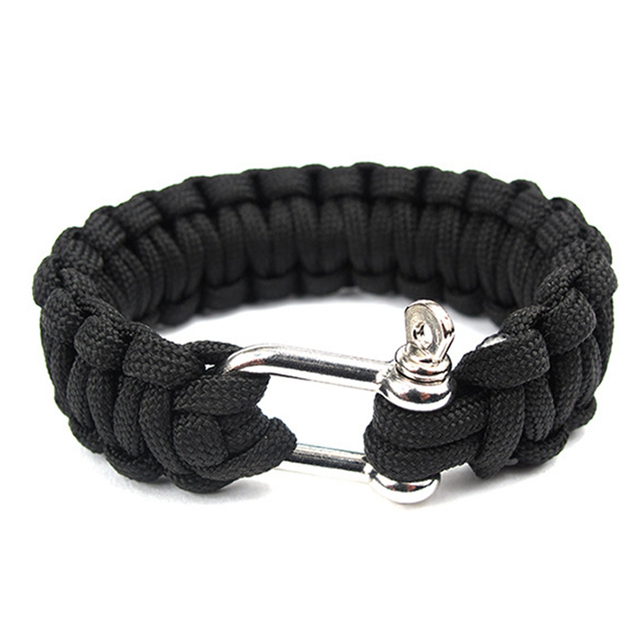 Outdoor Braided Paracord Bracelet Multi Function Survival Camping Rescue Emergency Rope Bracelets Escape Tactics Wrist