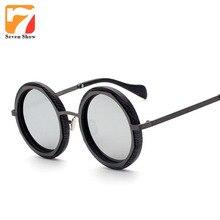 2016 Vintage Steampunk Ronda gafas de Sol de Las Mujeres Diseñador de la Marca Mujeres Gafas de Sol Para Los Hombres gafas de Sol Retro oculos gafas de sol uv400