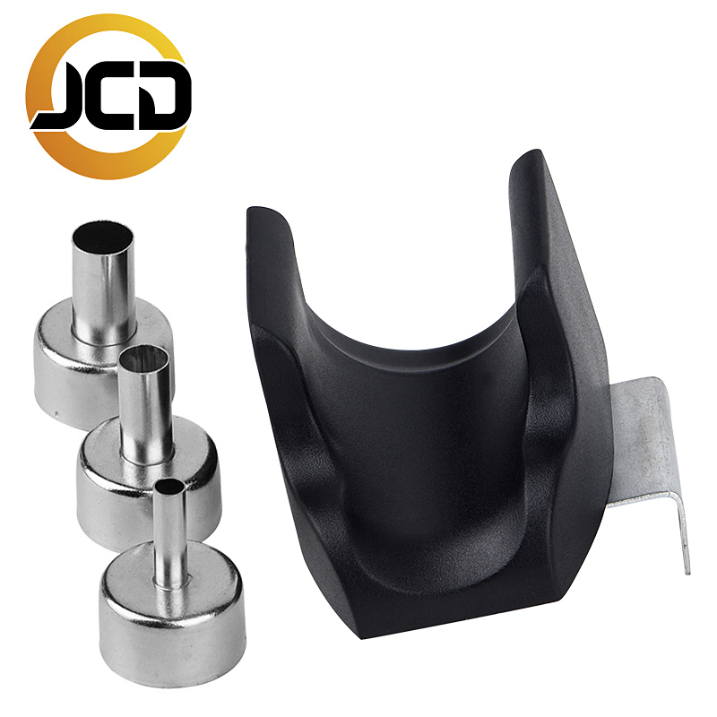 JCD Hot Air Gun Handle Bracket With 3Pcs Nozzle Soldering Station Welding Rework Station Upgraded From 8586 858D 8858