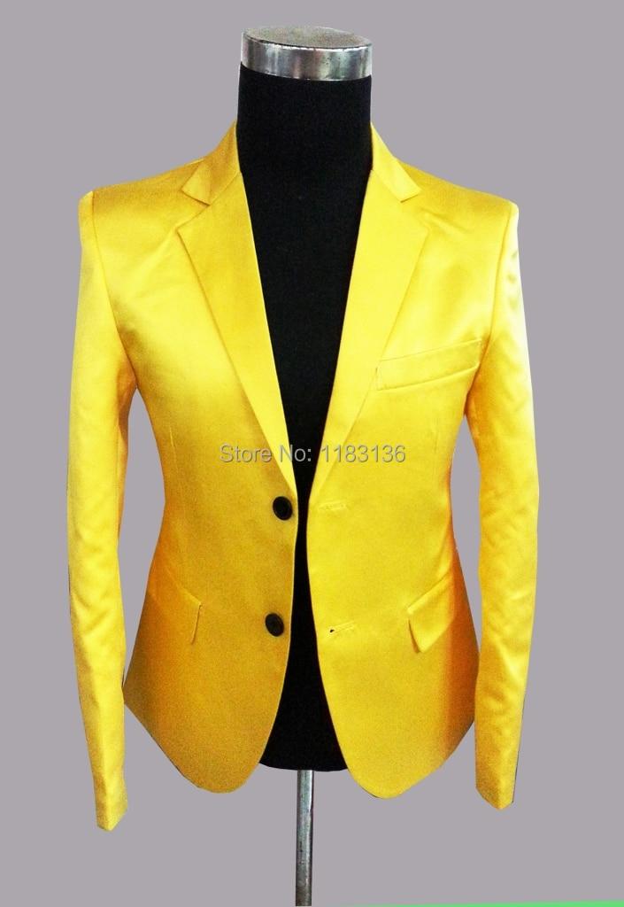 Veste de costume homme jaune