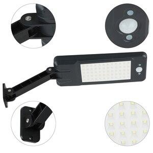 Image 4 - Luces solares de 900LM con Sensor de movimiento PIR, lámpara de pared de 60 LED con Control remoto, lámpara alimentada por energía Solar impermeable para patio de jardín exterior